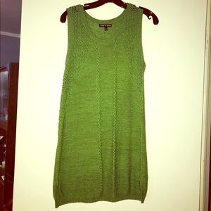 NWOT Cable & Gauge green knit tunic/dress